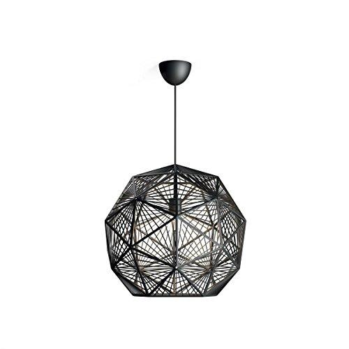 Philips lumièreing 4088730PN MOHAIR Suspension, Plastique, E27, Noir, 52 x 49,5 x 205 cm