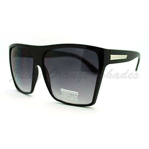 Super Oversized SuunnGllasses Unisex Flat Top Square Frame Fashion - Sunglasses Celebrities Super