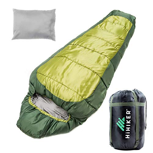 HiHiker Double Sleeping Bag (Mummy-Green)