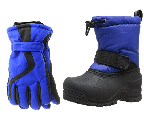 Northside Frosty Snow Boot, Royal Blue, 7 M US Big Kid with Matching (Frosty Snow Boot)