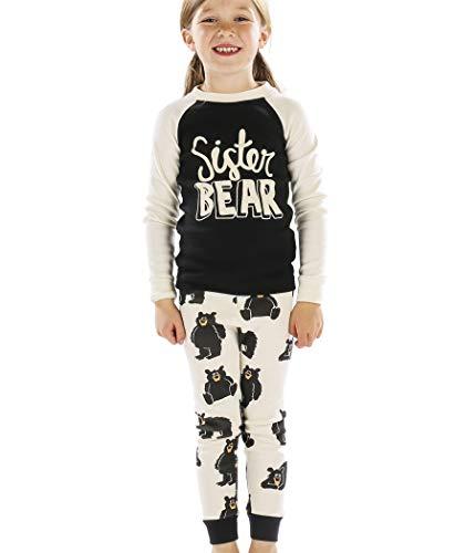 Sister Bear Kids Long Sleeve Pajama Sets by LazyOne | Fun Soft Animal Pajamas (10)