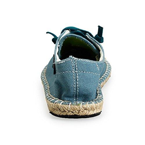 Azul Suela Yute Cuerda Zapatos Cordones Moda de Unisex Insun Alpargatas de zYvwFqazS