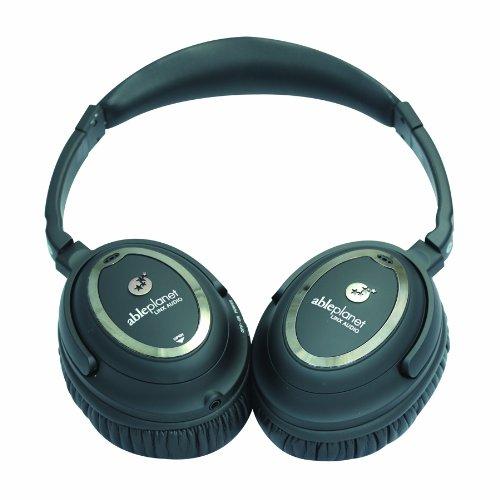 Harmony Noise Canceling Headphone - Able Planet NC1100B Clear Harmony Around the Ear Noise Cancelling Headphone (Black)