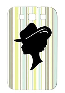 Cowgirl2 Women Love Women Hat Western Woman Cowgirl Girl Silver Case For Sumsang Galaxy S3 Anti-shock