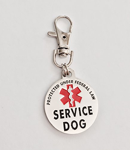 Theme Dog Tag (Double Sided Service Dog Small Breed Federal Protection Tag)