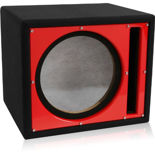 Belva BBX110RD Single 10 Ported Enclosure Custom Red Baffle