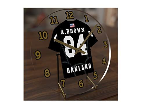 FanPlastic Antonio Brown 84 Oakland Raiders Desktop Clock - National Football League Legends Edition !!