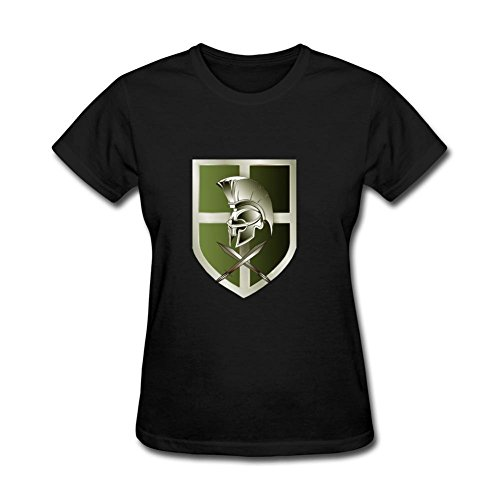 Tommery Women's Pretorian Olive Copy Design Short Cotton T Shirt