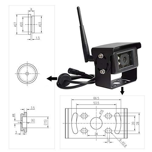Haloview MC7101 Digital Wireless Backup Camera System Kit 7 LCD Reversing Monitor and IP69K Waterproof Rear View Camera Built in DVR for Truck//Trailer//Bus//RV//Pickups//Camper//Van//Farm Machine Car
