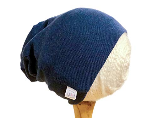 (Pure Organic Merino Wool Knit Hat or Beanie Cap S 6-18 Months Blue)