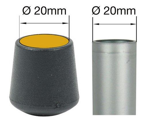 diff/érentes couleurs//tailles Lifeswonderful/® Noir Lot de 16 embouts ronds 10 mm pour pieds de meubles