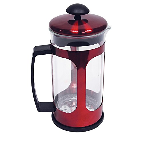 WYNDHAM HOUSE 34oz (1 liter) Red Metallic Premium French Press