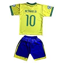 Brazil Neymar Jr 10 Kids Jersey/Shorts Football Soccer Drifit