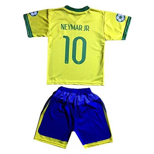 Brazil Neymar Jr 10 Kids Jersey Shorts Football Soccer Drifit 30%OFF ... c59a76f332ef9