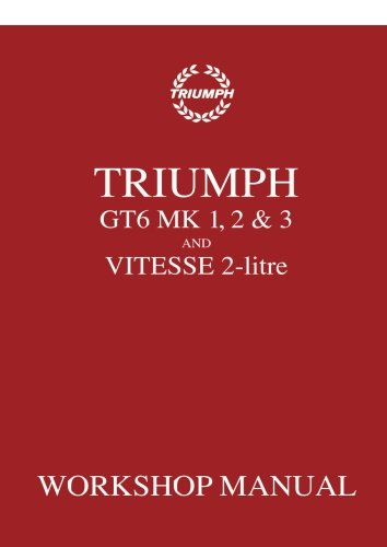 - Triumph GT6 Mk1, 2 & 3 and Vitesse 2-Litre Workshop Manual: Workshop Manual (No. 512947)