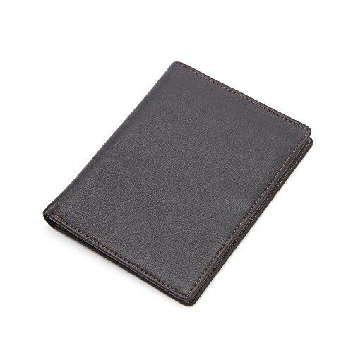 Royce Cuero Pasaporte de bloqueo RFID moneda cartera