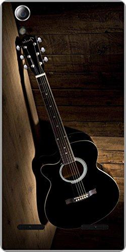 shengshou guitar design mobile back cover for lenovo a6000   black brown   Black; Brown