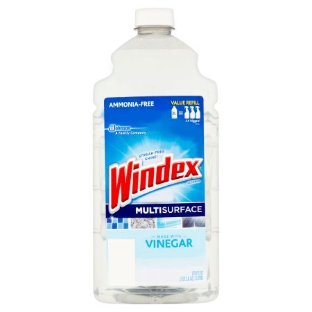 Windex Vinegar Glass Cleaner Refill, 2 Liter (Packaging May Vary)