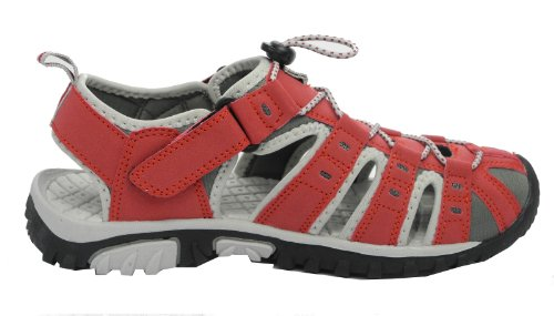 Womens Ladies PDQ Sports Hiking Closed Toe Trail Sandals Shoes Size 3 4 5 6 7 8 9 Grey/Fuchsia UvRYNg