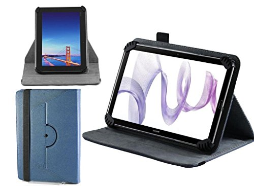 Navitech Blue Leather Hard Case Cover With 360 Rotational Stand For The Fnf Ifive Mini 4S Tablet 7.9 Inch