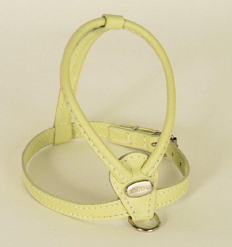 Petego La Cinopelca Soft Calfskin Teacup Dog Harness, Sage, XS