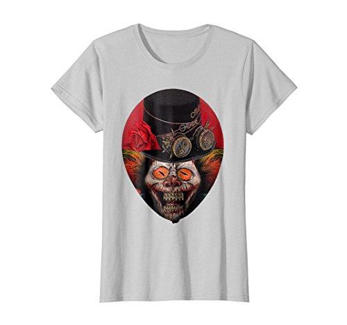 Womens Red Balloon Steampunk Clown T-Shirt Fear Horror Gifts Large (Fear Punk Shirt)