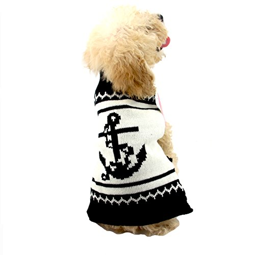 NACOCO Dog Sweater Pet Anchor Costume Halloween Christmas Holiday Party for Cat and Puppy (M)