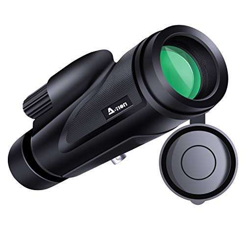 N-LIfe Monocular Telescope 12x50 High Power Portable Pocket Lightweight Outdoor WaterProof Wildlife HD Easy Focus Scope Free Blindfold Bird Watching Hunting (Portable Night Vision Scope)