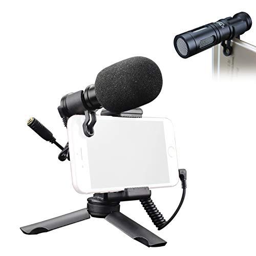 Tubace Smartphone Video Kit Ranger with Video Shotgun Microphone, Mini Table Tripod and Smartphone Holder, Pocket Vlogging Starter kit for Smartphone, YouTube, Interview, Studio, Vlog, Filmmaking