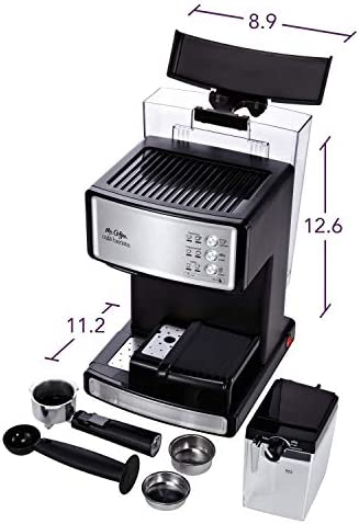Mr. Coffee Espresso and Cappuccino Maker | Café Barista , Silver 41gcCnTpRLL