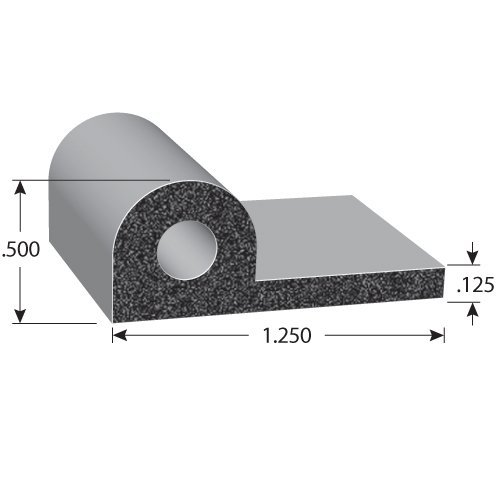 Noise Control Edge Guard Rubber Sealing Strip Weatherstrip Ozone Resistance 10ft
