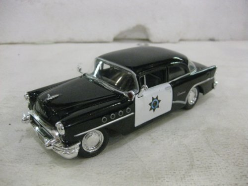 1955 Buick Century California Highway Patrol In Black Diecast 1:26 Scale By Maisto - Buick Century Diecast Model