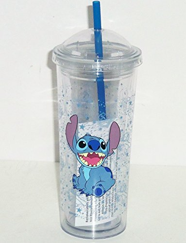 Disney Lilo Stitch Acrylic Travel Tumbler Reusable Straw Cup