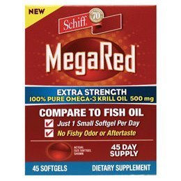 Schiff Products - Megared Extra Strength 100 Percent Pure Omega 3 Krill Oil, 500 mg, 45 softgels by Reckitt Benckiser