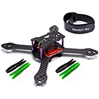 Readytosky 220mm Carbon Fiber Frame kit for Reptile Martian III FPV Cross Racing Quadcopter w/ Power Distribution Board(4 pack 5 inch props) gift