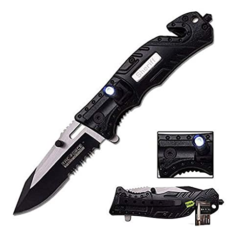 Amazon.com: SURVIVAL STEEL Tac-Force TF-835SH - Cuchillo de ...