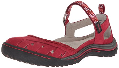 Jambu Women's Apple Blossom Mary Jane Flat, red, 6 Medium US -