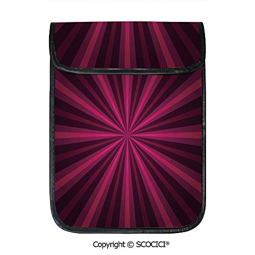 SCOCICI iPad Pro 12.9 Inch Sleeve Tablet Protective Bag Abstract Starburst Design Radial Lines Colored Beams Futuristic Decorative Custom Tablet Sleeve Bag Case
