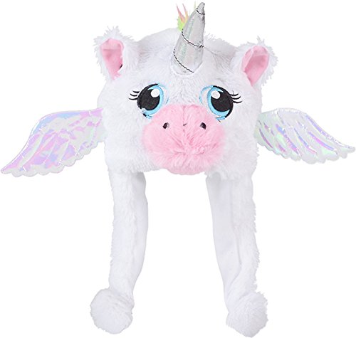 Child's Plush White Mythical Flying Unicorn Hat Costume Accessory