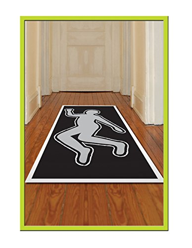 "PSI Body Silhouette Crime Scene Chalk Outline Party Decoration 30"" X 5"