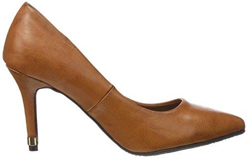 XTI Sra. C. Camel, Zapatos de Tacón con Punta Cerrada para Mujer Marrón (CAMEL)