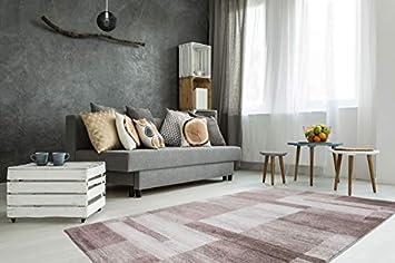 One Couture Teppich Muster TEPPICHE Kasten Wohnzimmer BEIGE Streifen ...