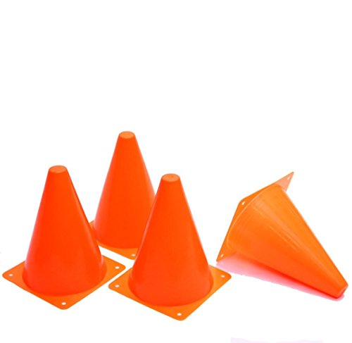 Toy Cubby Orange Play Traffic Cones for Sports, Games and Outdoor Activities - Pack of 24 Stackable, 7 Inch Cones