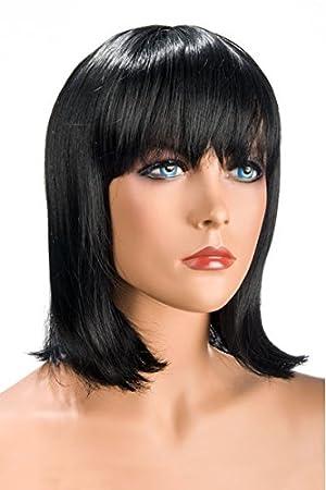 World Wigs Perruque Brune Carré Mi-Longue/