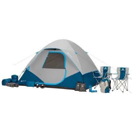 Ozark Trail 28-Piece Premium Camping Combo Set - 6 Person Tent includes rainfly, Lantern, Fan, Camping Chairs by Ozark Trail