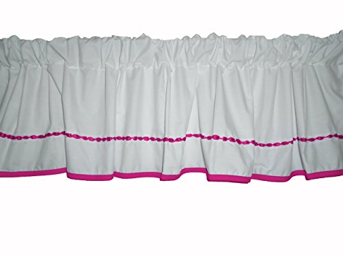 Baby Doll Bedding Unique Window Valance, Hot Pink by BabyDoll Bedding
