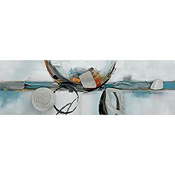Lieblich Bild Panorama Skandinavischen Grau Und Blau, Maße 60/120 Cm, Horizontale,  Abstrakte