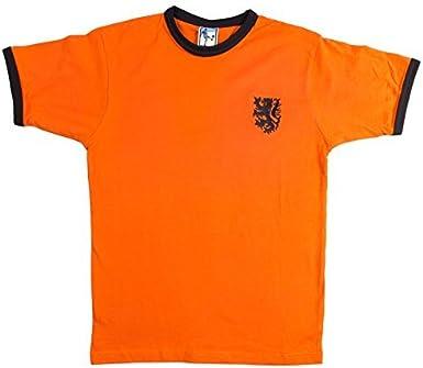 Retro Holanda 1970s Fútbol camiseta nueva tallas S-XXL Logotipo Bordado: Amazon.es: Ropa y accesorios