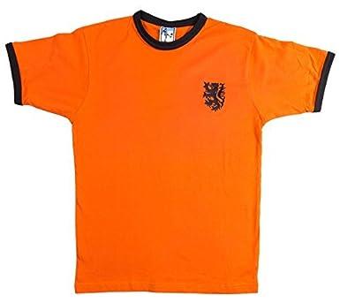 Old School Shop Holanda Retro 1970s de fútbol Camisa de Manga Corta tamaños de pequeño a