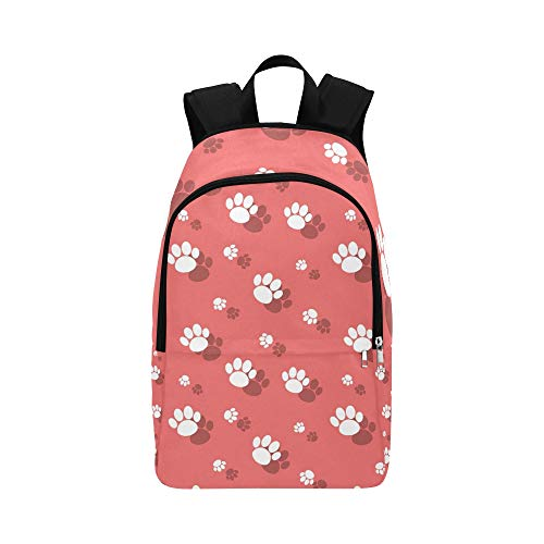 JXCSGBD Animal Paw Print Wildlife Casual Daypack Travel Bag College School Backpack for Mens and Women ()
